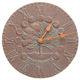 Whitehall Times Seasons Clock Copper Verdigris