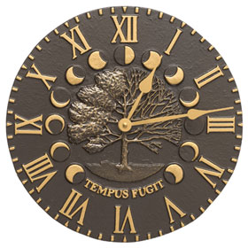 Whitehall Times Seasons Clock French Bronze