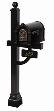 Keystone FleurDeLis Deluxe Post Black Bronze