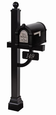 Keystone FleurDeLis Deluxe Post Black Nickel