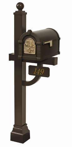 Keystone FleurDeLis Deluxe Post Bronze Brass
