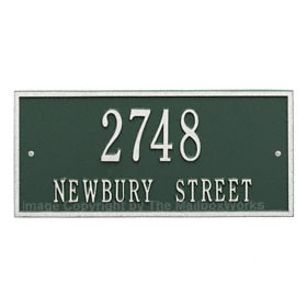 Whitehall Hartford Address Plaque Green Silver