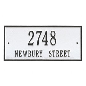 Whitehall Hartford Address Plaque White Black