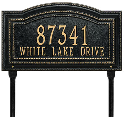 Decorative Lawn Address Markers and Plaques