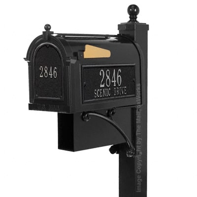 Whitehall Estate Mailbox Package Black Silver
