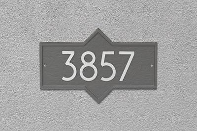 Whitehall Modern Hampton Address Plaque Installed