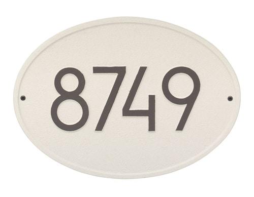 Whitehall Modern Hawthorne Oval Address Plaque