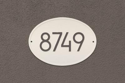 Whitehall Modern Hawthorne Oval Plaque Installed