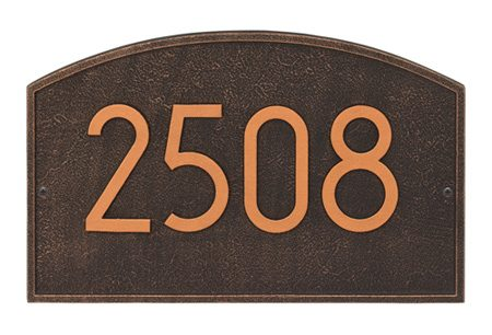 Whitehall Modern Legacy Address Plaque