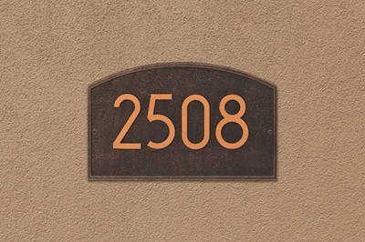 Whitehall Modern Legacy Address Plaque Installed