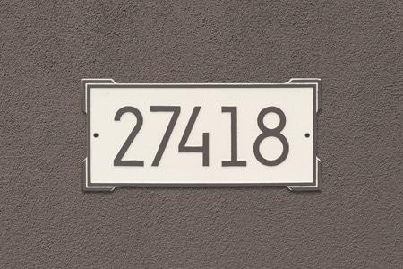 Whitehall Modern Roanoke Address Plaque Installed