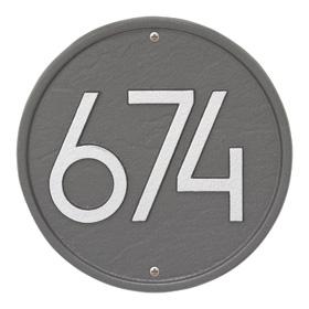 Whitehall Modern Round Plaque Pewter Silver
