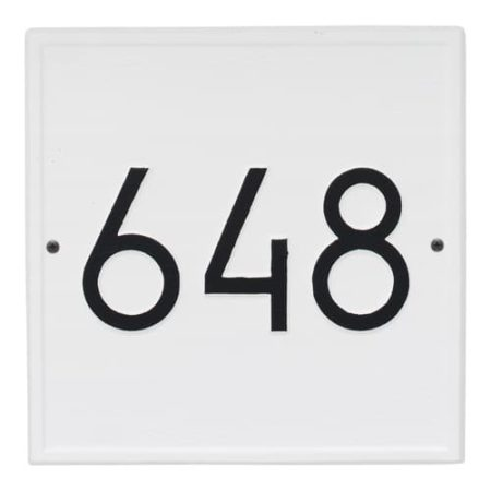 Whitehall Modern Square Address Plaque