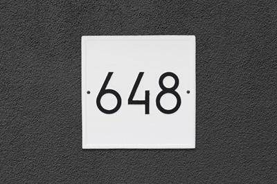 Whitehall Modern Square Address Plaque Installed