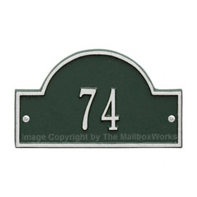 Whitehall Petite Arch Marker Green Silver