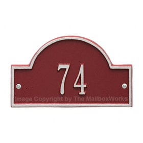 Whitehall Petite Arch Marker Red Silver