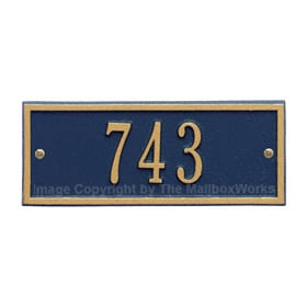 Whitehall Petite Hartford Plaque Blue Gold