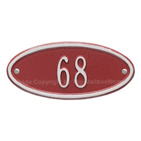 Whitehall Petite Madison Oval Red Silver