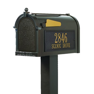 Whitehall Premium Mailbox Package Bronze Gold