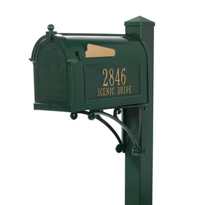 Whitehall Superior Mailbox Package Green Gold