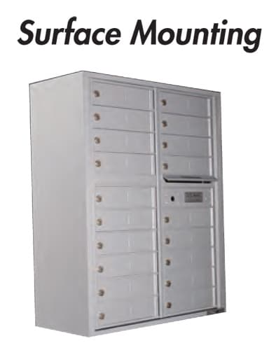 4C Mailboxes Surface Mounting