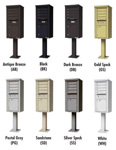4C Pedestal Mailbox Finish Options