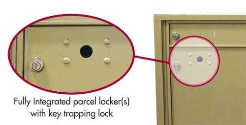 4C Pedestal Mailbox Parcel Locker