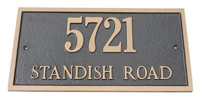 Majestic Solid Brass Address Plaques