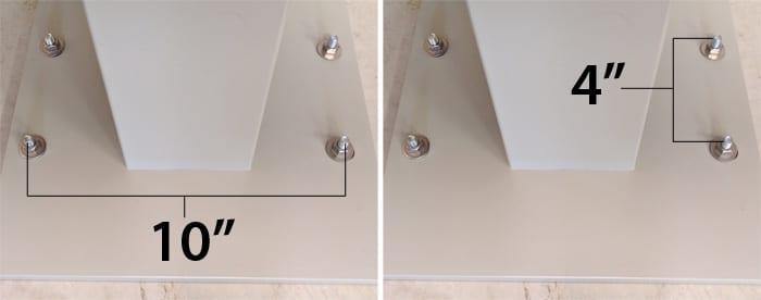 CBU Mailbox Pedestal Bolt Footprint Dimensions