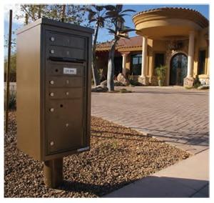 Florence 4C Pedestal Mailbox Installed