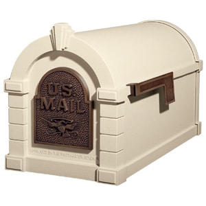 Eagle Keystone Mailbox Almond Antique Bronze