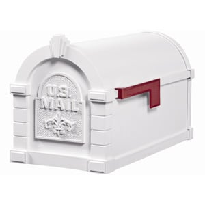 Gaines Fleur Keystone Mailbox All White