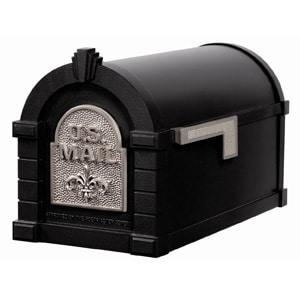 Fleur Keystone Mailbox Black Satin Nickel