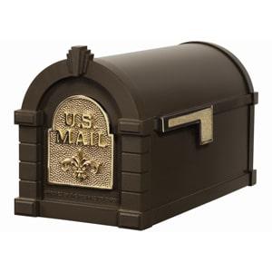Fleur Keystone Mailbox Metallic Bronze Brass