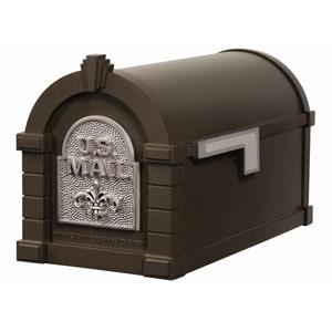 Fleur Keystone Mailbox Metallic Bronze Nickel
