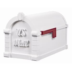 Gaines Signature Keystone Mailbox All White