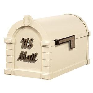 Signature Keystone Mailbox Almond Antique Bronze