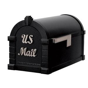 Signature Keystone Mailbox Black Satin Nickel