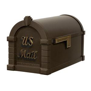 Signature Keystone Mailbox Metallic Bronze Antique