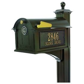Whitehall Balmoral Streetside Mailbox Package Bronze
