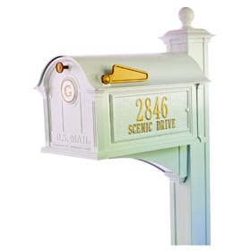 Whitehall Balmoral Streetside Mailbox Package White