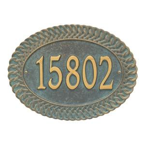 Whitehall Chartwell Address Plaque Bronze Verdigris
