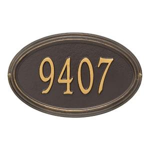 Whitehall Concord Oval Plaque Bronze Gold