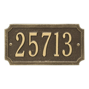 Whitehall Cut Corner Address Antique Bronze