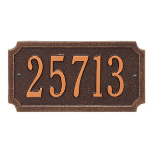 Whitehall Cut Corner Address Antique Copper