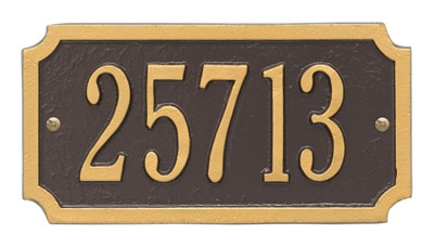 Whitehall Cut Corner Rectangle Address Plaque