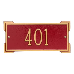 Whitehall Mini Roanoke Plaque Red Gold