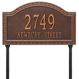 Whitehall Penhurst Lawn Marker Antique Copper