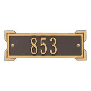 Whitehall Petite Roanoke Plaque Bronze Gold