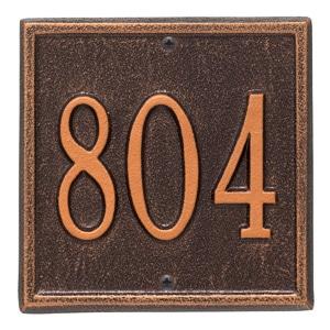 Whitehall Petite Square Plaque Antique Copper